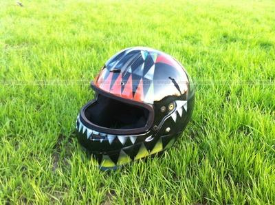 Аэрография на шлеме Кристалл